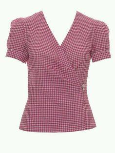 Amazing Sewing Patterns Clone Your Clothes Ideas. Enchanting Sewing Patterns Clone Your Clothes Ideas. Dress Sewing Patterns, Blouse Patterns, Vintage Sewing Patterns, Blouse Designs, Burda Patterns, Blouse Wrap, Kimono Blouse, Mode Batik, Sewing Blouses