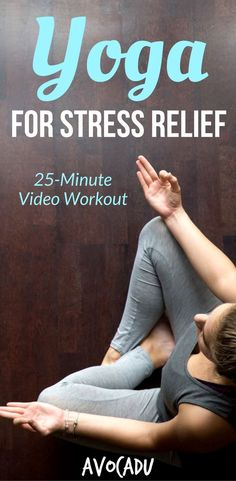 Yoga for Stress Relief   Yoga for Beginners   Yoga Workout Video   Yoga Video   http://avocadu.com/yoga-for-stress-relief/