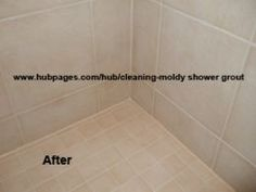 cleaning and maintaining shower grout and caulk