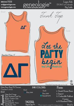 BOULDER DG // delta gamma // let the party begin big/little reveal tank