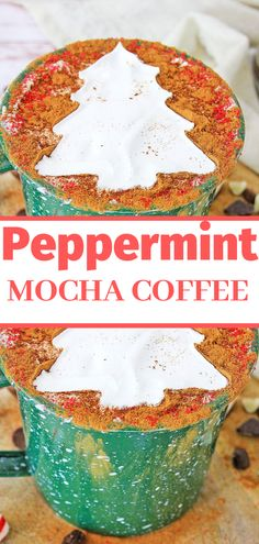 Easy Peppermint Mocha Coffee Recipe - Winter calls for delicious peppermint mocha coffee! Holiday Pies, Holiday Cookies, Holiday Recipes, Great Recipes, Yummy Recipes, Peppermint Coffee Recipe, Peppermint Mocha, Easy Desserts, Dessert Recipes
