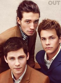 'Perks of Being a Wallflower' Ezra Miller, Logan Lerman &  Johnny Simmons  Wrap all three, please!!! No sugar.