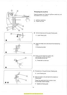 Free Elna 6003 sewing machine threading guide   How to thread your Elna 6003 sewing machine diagram.
