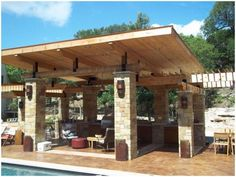 pavilion with hardscape pillars