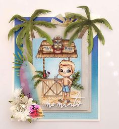 Hawaiin Holiday Baby Fairy, Hawaii Vacation, Project Yourself, Best Dad, Digital Stamps, Clear Stamps, Copic, Craft Stores, Digital Image