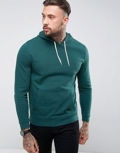 Get this Asos's hooded sweatshirt now! Click for more details. Worldwide shipping. ASOS Hoodie In Green - Green: Hoodie by ASOS, Soft-touch sweat, Drawstring hood, Over-the-head style, Pouch pocket, Fitted trims, Regular fit - true to size, Machine wash, 100% Cotton, Our model wears a size Medium and is 192cm/6'3.5 tall. ASOS menswear shuts down the new season with the latest trends and the coolest products, designed in London and sold across the world. Update your go-to garms with the new…