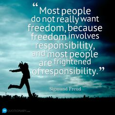 Quote from Sigmund Freud. With freedom come responsibilities. College is a new freedom that young adults receive. But you need to accept the responsibilities that come with it! Sigmund Freud, V Quote, Freud Quotes, Live Your Truth, Philosophy Quotes, Psychology Quotes, Cute Quotes, Life Lessons, Wise Words