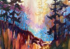 The Collection : Island - Abstract Landscapes by Teresa Smith - Artist Friday Harbor Wa, Modern Impressionism, Forest Painting, San Juan Islands, Waterworks, Abstract Landscape, Ecology, North West, Oil On Canvas