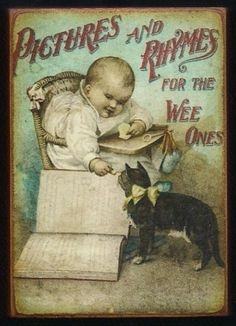 """""""Pictures and Rhymes for the Wee Ones"""" (c. 1890) - book cover"""