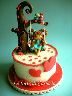 ♡❤ ❥ Molly contest - cake made by Le torte di Carmela Girly Cakes, Fancy Cakes, Mini Cakes, Pretty Cakes, Cute Cakes, Fondant Cakes, Cupcake Cakes, Cakepops, Molly Cake