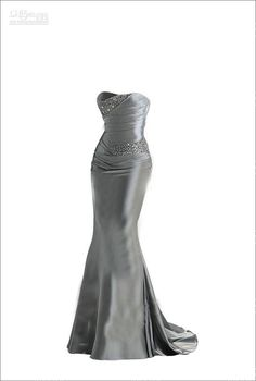 Best Selling Strapless Evening Bridemaid Dresses Gowns Cheap Silver Prom Dress US $ 110.00