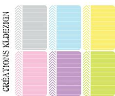 Printables -- Chevron Stripe Journal Cards from KLdezign {French blog - Enlarge image and right click to save file}