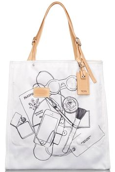 A look at the new line of totes for the CFDA Americans in Paris initiative. Postman Bag, Creative Bag, Cute Wallets, Fabric Bags, Little Bag, Fashion Bags, Paris Fashion, Canvas Tote Bags, Purses And Bags