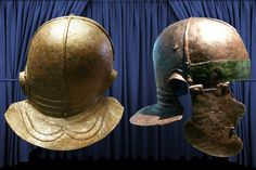 Roman helmets excavated in Germany Ancient Rome, Ancient History, Roman Helmet, Gladiator Helmet, Roman Legion, Frank Morrison, Military Armor, Roman Soldiers, Roman History