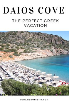 Luxury resort with beautiful beach in Crete : Daios Cove Resort in Greece   Travel destinations to add to your bucket list. Click through to see the full guide on http://www.hedonistit.com