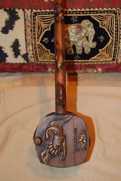 Copper Vintage Collectible Ornate Silent Butler Scenic Animal Motif