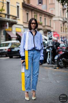 Gilda Ambrosio Street Style Street Fashion Streetsnaps by STYLEDUMONDE Street…