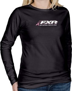 FXR Racing - Snowmobile Sled Gear - Wmn's Pink Ribbon Long Sleeve - Blk