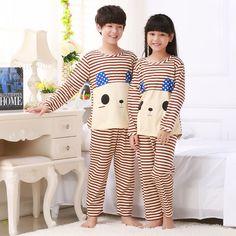 2pcs sets 2017 Boy   Girl Pajamas Kids Printed Long Sleeve Tops+Pants Children s  Nightwear Sleepwear Students Boys Pyjamas Sets-in Pajama Sets from Mother  ... 6fec4ccfbdee
