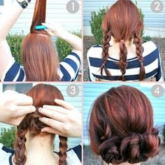 By S G. Saw this on Pinterest and it's a hair style I do a lot because it's really easy to do and looks cute! @Bloom.COM