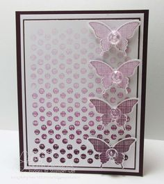 Ombre butterfly cards by Lyssa Griffin Zwolanek, Song of My Heart Stampers. Please click through for complete supplies list.