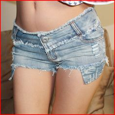 Buy Fashion woman sexy jeans shorts hot pants at Wish - Shopping Made Fun Sexy Jeans, Sexy Shorts, Girls Wearing Shorts, Daisy Duke Shorts, Jeans For Short Women, Short Jeans, Short Shorts, Skinny Jeans Style, Ripped Denim