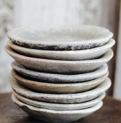 old Indian marble bowls