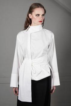 Рубашка с цельнокройным поясом - J.Perekriostova