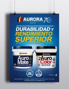 Afiche para Pintura Auro Mate y Auro Color Cliente: Corporación Mara S.A