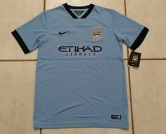 NWT Authentic NIKE Manchester City  2014 Soccer Jersey Youth XL
