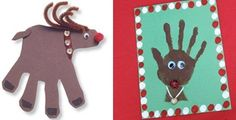 8 Handprint Christmas Kids Crafts: Wreath, Tree, Reindeer, Snowman, Santa