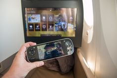 Entertainment System in Business Studio #businessclass #airbus #boeing #economyclass #firstclass #etihad #travel #review #food #boeing787 #dreamliner #entertainment