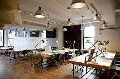 Spaces, bureau open space, office workspace, industrial style, industrial l Open Office, Cool Office Space, Shared Office, Office Workspace, Office Spaces, Work Spaces, Coworking Space, Office Interior Design, Office Interiors