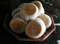 Muffins ingleses o english molletes | Un pedazo de Pan