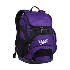Speedo Teamster Backpack, Purple, 35 L - http://www.exercisejoy.com/speedo-teamster-backpack-purple-35-l/swimming/