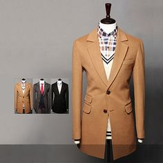 Double Button Jacket with Three Pockets . Shop Now At  http://sneakoutfitters.com/collections/new-in/products/ao-cbcm-db-9109-so100