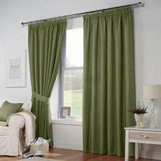 Leighton Eyelet Curtains in Green - Terrys Fabrics UK