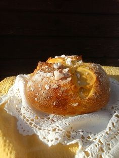 Sirnica by Yaja Donut Recipes, Baking Recipes, Croatian Recipes, Baked Potato, Donuts, Muffin, Pudding, Bread, Cookies