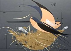 Charley Harper (via Grain Edit).    I'd never seen his work before, but I've fallen in love with it.