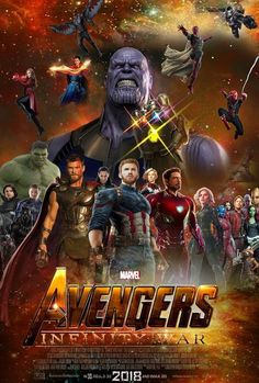 WATCH:>> Avengers: Infinity War (2018) : - Hier Kostenlos Filme herunterladen As the Avengers and their allies have continued to protect the world from threats too large for any one hero to handle, a new danger has emerged from the cosmic shadows: Thanos. A despot of intergalactic infamy, his goal is to collect all six Infinity Stones, artifacts of unimaginable power, and use them to inflict his twisted will on all of reality. Everything the Avengers have fought for has led up to this moment… Action Movies, Hd Movies, Movies To Watch, Movies Online, Movies Free, Indie Movies, Marvel Infinity, Avengers Infinity War, Avengers Movies