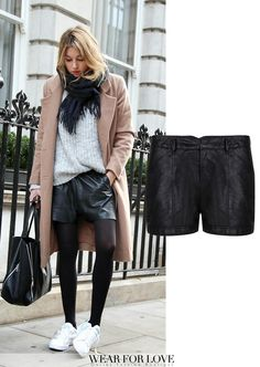 Leather short streetstyle http://www.wearforlove.com/nl/shorts/1018-ydence-leren-shorts-yaren-zwart.html