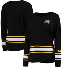 Missouri Tigers Colosseum Women's All Around Oversized Long Sleeve T-Shirt - Black - $22.99
