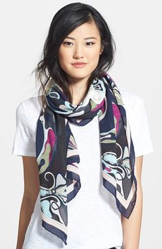 Emilio Pucci 'Orchidee' Modal Blend Scarf available at #Nordstrom