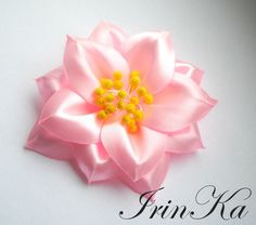 Цветок из ленты.