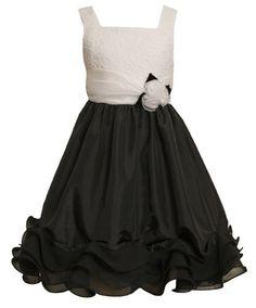Size-8, Black, BNJ-8018R, Black and White Lace and Chiffon Wire Hem Dress,Bonnie Jean Tween Girls Special Occasion Flower Girl Party Dress Bonnie Jean,http://www.amazon.com/dp/B00BOARBMU/ref=cm_sw_r_pi_dp_gL6Mrb96197C4BA2