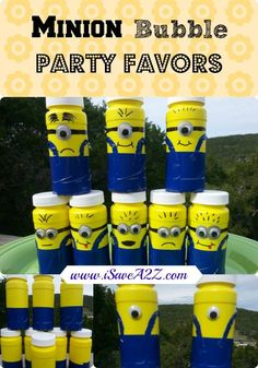 DIY Minion Bubble Party Favors!