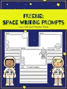This freebie includes 4 space-themed writing prompts: If I went to the moon. (boy and girl options) If I went to space. (boy and girl options) Blank writing page with astronaut pictures (boy and girl options) If I met an alien. Kindergarten Writing, Writing Activities, Literacy, Kindergarten Centers, Space Theme Classroom, Picture Writing Prompts, Sentence Writing, Free Teaching Resources, Teaching Strategies