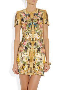 Absolutely gorgeous. (Alexander McQueen|Printed cady dress|NET-A-PORTER.COM)