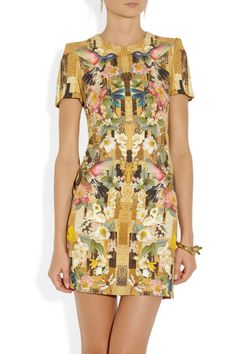 Alexander McQueen | Printed cady dress