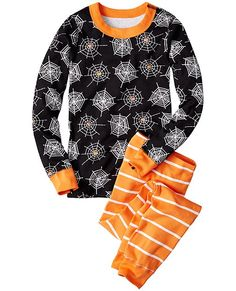 Clever Gymboree Halloween Fair Isle Ghost Spider Pjs Black Purple Girls Nwt 12-18 M Clothing, Shoes & Accessories